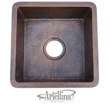 Ariellina 14 Gauge Handmade Bar Prep Copper Kitchen Sink Life Warranty AC3002