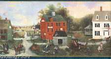 Donna Dewberry American Colonial Village Country Old Town Wall paper Border