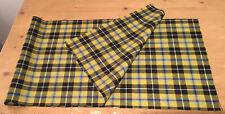 Cornish National tartan fabric remnant 1m X 30cm