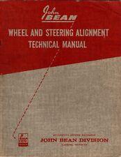 1967 John Bean Wheel & Steering alignment technical manual/Corvair M075 M137