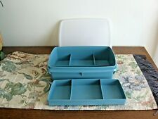 Tupperware Tuppercraft Stow N Go Container Sewing Craft Tackle Box Organizer 3pc
