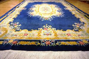 Schöner Blumen China Aubusson Orientteppich 350x250cm Ghom Nain  #5071
