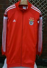BENFICA FC ADIDAS MENS UK SIZE XXL RED & WHITE FULL ZIP TRACK JACKET VGC