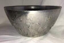 Don Drumm Signed Cast Aluminum Brutalistic Large Bowl Mid Century Modern