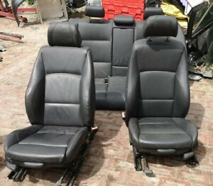 BMW  E90 M SPORT LEATHER SEATS BLACK + DOOR CARDS  NON HEATED
