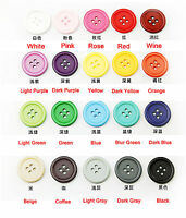 Round Resin 4-Hole Flat Button Sewing Crafts For Jackets Coats Shirts 10-25mm