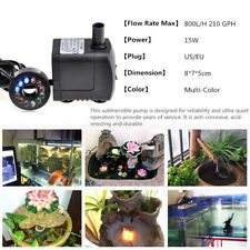 Electric Fountain Water p W/ 12 LED Light Pond Garden Pool