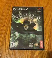 Matrix: Path of Neo (Sony PlayStation 2, 2005) COMPLETE ATARI TEEN FAST SHIP PS2