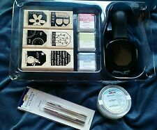 Stampin' Up! Punch Box Terrific Tags Stamp Set, Stamp Pads And Punch NEW