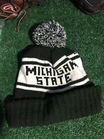 Michigan state MSU Spartans Vtg Rare winter Hat Cap H1