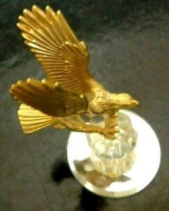 Vintage EAGLE Figurine - 24 KT Gold Plated And Austrian Crystal J.J.  3 Inch