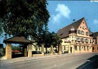 8873 Ichenhausen Schwaben color Postkarte um 1988 Strassen Partie am Schloss