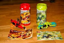 (2) Lego Technic RoboRiders sets: Lava 8510 & Swamp 8509 in Canisters w/ Manuals