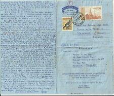 Thailand Stamps: Vintage 1967 Aerogramme # 5 to Belgium