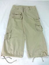 YOUNIQUE WOMENS KHAKI COTTON CARGO CAPRIS PANTS JRS SIZE 5