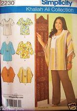 Miss Simplicity 2230 Pattern UNCUT Khaliah Ali Tunic Tops Size 10-12-14-16-18