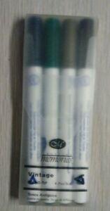 New Creative Memories Round Tip 4 Pen Set Vintage Colors (see in descrip. below)