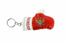 mini boxing gloves keychain keyring key chain ring leather Flag montenegro