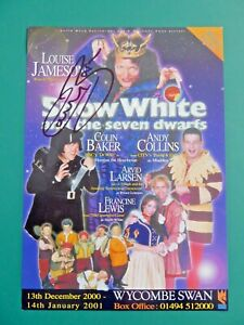 Doctor Who COLIN BAKER Hand signed Wycombe Swan Theatre Pantomime flyer 2000
