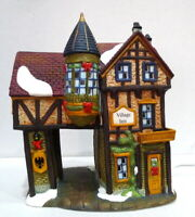 Grandeur Noel Victorian Village Inn 1999 Vintage Turret Tower Replacement
