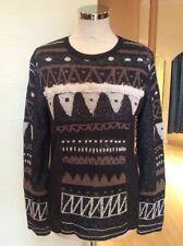 Aldo Martins Sweater Size 20 Grey Cream Brown Now