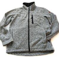 SWISS TECH Mens Small 34 / 36 Fleece Lined Thick Full Zip Sweater Jacket