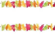 Hawaiian  Lei Luau Hibiscus Flower Hanging Garland New Party Decoration 30m