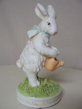 STANDING RABBIT FIGURINE with WATERING CAN April Showers Bring May Flowers NEW