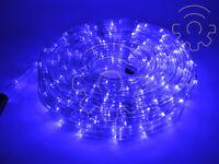 Tubo luminoso a led di Natale blu 10 mt 8 giochi luci per esterno e interno