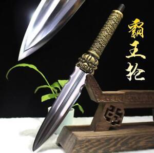 Handmade Chinese Wushu lance SpearForge Damascus Steel Supreme pole Spear Spear
