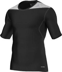 adidas Men's Tech Fit Base Short Sleeve Shirt, Color Options