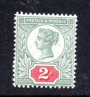 GB QV 1887 2d green & carmine SG200 unmounted mint WS18351