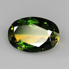 9.2Ct Man Made Bi Color Glass Yellow Green Oval Cut MQYG17