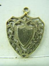 Vintage silver plated Shield medal medallion fob no inscription       1174