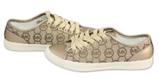 Brand New Michael Kors Fashion Signature MK City Sneakers Beige Women's Size 7