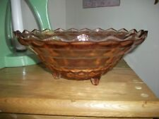 VINTAGE INDIANA GLASS CO. WHITEHALL PATTERN PINK FOOTED BOWL