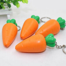 Mini Cartoon Carrot Shape LED Lights Glow Vocal Key Rings Bag Accessories