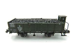 (GMU415) Minitrix Spur N DC Niederbordwagen mit Ladung K.Bay.Sts.B. EVP