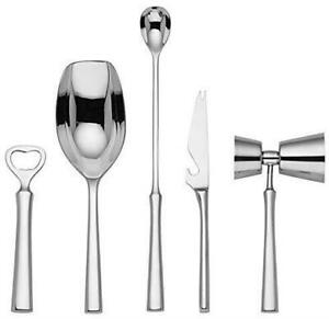 Kate Spade Malmo 18/10 Stainless Steel 5 Piece Bar Tool Set Barware