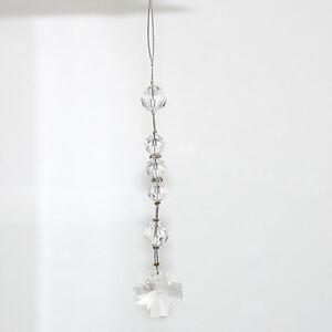 NEW  Car Rosary - Made with Swarovski Crystal wth Sq Cross - Crystal - Free post