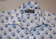 MEN'S VINTAGE 1970s VAN HEUSEN GEOMETRIC PATTERN LONG SLEEVE SHIRT! 15 32-33