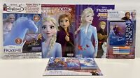 New 5pc Disney Frozen II Jumbo Coloring & Activity Books Sticker Story & Crayons