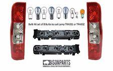 *FORD TRANSIT VAN MK7 BULBS, HOLDERS & REAR TAIL LIGHTS LAMP PAIR LH & RH TRA501