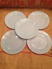 "Lot Of 5 Vintage LuRay Pastels Bread Butter Plates Blue 6 3/8""  TS&T Taylor"