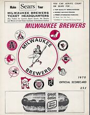 Milwaukee Brewers vs Chicago White Sox 1970 scorecard & ticket stub- Krausse win