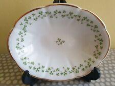 More details for royal tara fine bone china. oval dish in shamrock design