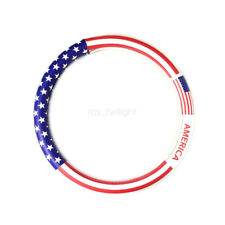 38CM 15 Inch PU Leather USA American Flag Style Steering Wheel Cover Universal