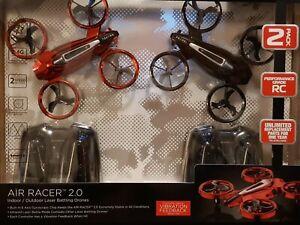 New Propel Air Racer 2.0 Indoor/Outdoor Laser Battle Drones 2-Pack - Red & Black