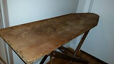 Vintage Used Folding Wood Ironing Board 1920's Display For Collection