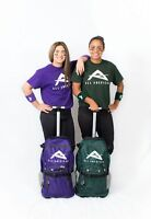 Softball Backpack and Roller Bag